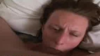 Deep blowjob with cumshot