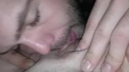 Pussy licking closeup