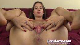 Lelu Love Asshole Puckering Pussy Spreading Closeups
