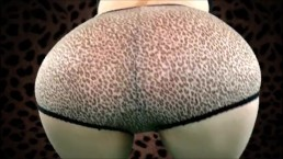 Sexy Squats in Cheetah Panties