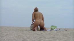 Hot Milf on nudist beach