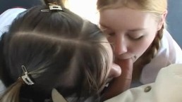 Schoolbus blowjob teens driver fuck very young gils & give suck