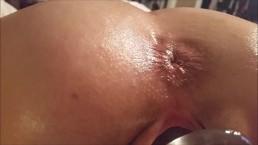 Gaping my cunt up close ass pucker