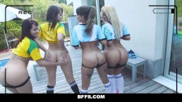 BFFS Hot Soccer Chicks Fucked by Coach