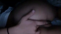 Amazing ass late night fingering