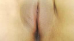 Closeup peeing
