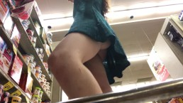 Flashing & Rubbing Pussy in a Public Store