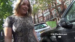 Sexy Ashley Riders public flashing and outdoor babe exposing tits and pussy