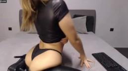 Hot big ass blonde