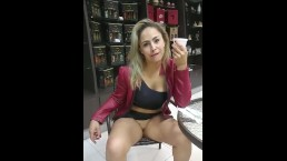Public flashing pussy Hot MILF