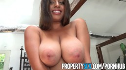 PropertySex Potential client impressed by big natural tits