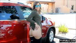 Flashing ass in public