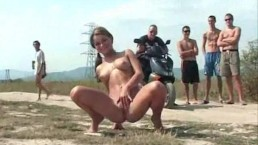 Public flash and piss