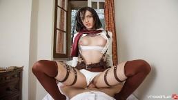 Lilyan Red As Mikasa Attacks Your Titanic Dick