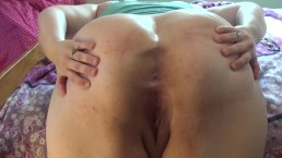Big assed BBW: closeup ass spread with loud ass shaking Cute asshole