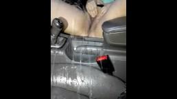 Norwegian MILF pissing in car