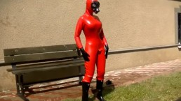 Hazmat latex girl