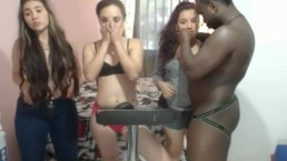 3 Webcam Teens Party On A BBC