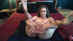 Gaping pussy and cervix show