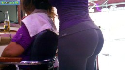 Perfect big fit ass in tight leggings