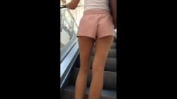 Candid perfect teen Ass in Plaza