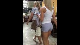 Perfect fit toned body with thick booty blonde creepshot while I was shoppi