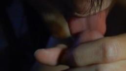 Close up blow job with cum