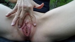 Hard core pussy slap makes clit red and pussy throb real close up