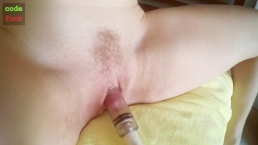 Clit pump best clitoris erection gaping close up fingering hairy pussy