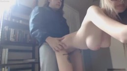 Perfect tits girl fucked standing