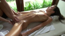 Girl's Perfect Body Writhes In Desperate Ecstasy From Erotic Massage