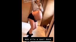 Huge pregnant dance