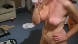 2 2 Nervous huge ass mom goes all in w her son when hubby is out of town