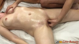 Sexy Oil Massage to Each Other with Mutual Handjob