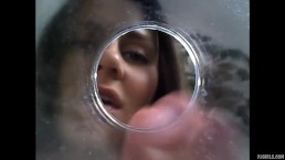 Solo Petite Girl Close Up puts Endoscope on Nipples Uses Camera as Dildo