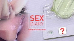 Creampie Compilation : Real Couple Sex Diaries Before get Pregnant