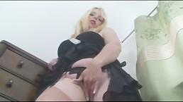 Busty Blonde Milf Fucks her milf Pussy