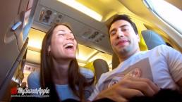 RISKY PUBLIC BLOWJOB IN AN AIRPLANE Amateur MySweetApple