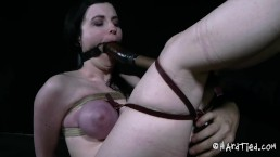 Slave girl with big tits tied and tortured
