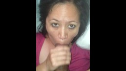Awesome BJ from my wife's filipina friend at her house :
