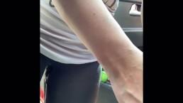 Girl pees outside of Walmart