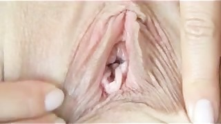CLOSE UP pussy looking right inside hot girls vagina Must See